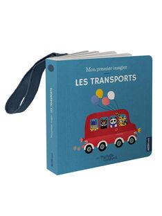 "Livre imagier ""Les transports"" Auzou bleu 11x11x1,9 cm dès 1 mois LES TRANSPORTS / 19PJME006LIB999"