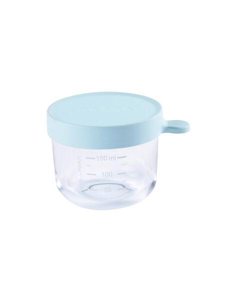 Pot de conservation en verre Béaba bleu clair 150 mL dès 4 mois PORTION 150 BLE / 19PRR2002VAI020