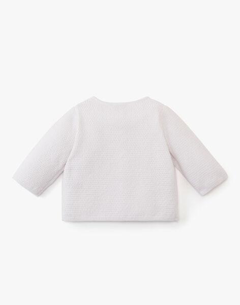 Gilet mixte blanc en coton cachemire ABLISSE 20 / 20PV7511N12000