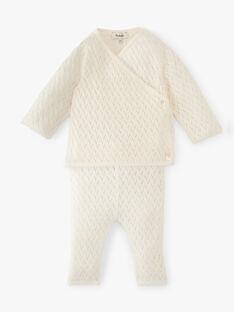 Ensemble fille en tricot fantaisie coton cachemire  ALINE 20 / 20PV2212N19114