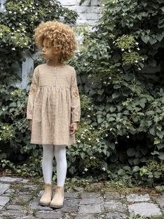 Robe camel enfant fille DINA 468 21 / 21I129116N18804