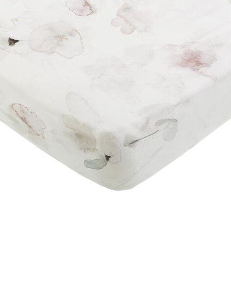 Drap-housse Forever Flower Mies & Co blanc 40x80 cm 0-6 mois DRAP H FOREVER / 19PCTE006DRA999