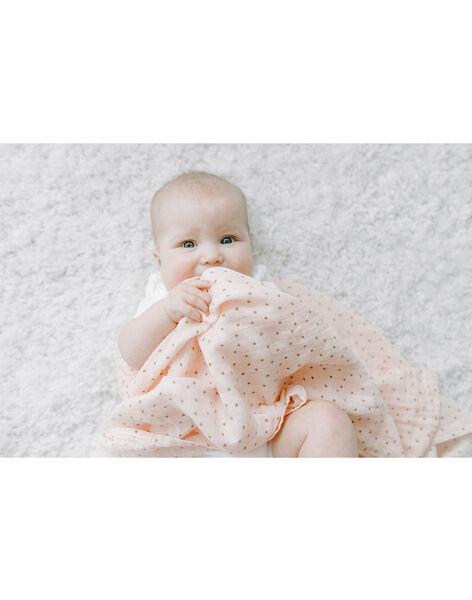 Pack de 4 langes Dahlias Aden Anais roses 120x120 cm dès la naissance 4 LANGES DAHLIA / 19PSSO009AHY999