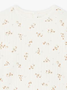 T-shirt côtelé imprimé fleuri coton biologique bébé fille DILETTE 21 / 21IU1911N0F114