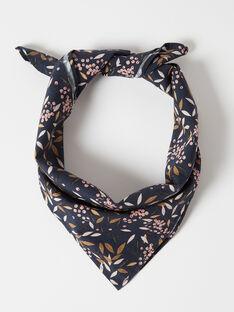 Foulard fille bleu en imprimé fleuri  BAGATELLE 20 / 20IU6053N88C205