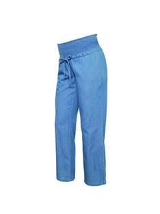 Pantalon de grossesse ample bio Mamalicious denim bleu clair MLXANDRA PANTS / 20VW2641N03P270
