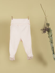 Pantalon à pieds côtelé rose tendre fille  TAPIS 19 / 19PV2221N03307