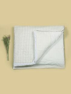 Parure de lit vanille à carreaux garçon : couette et taie d'oreiller TUCAROUETTE 19 / 19VQ6321N57114