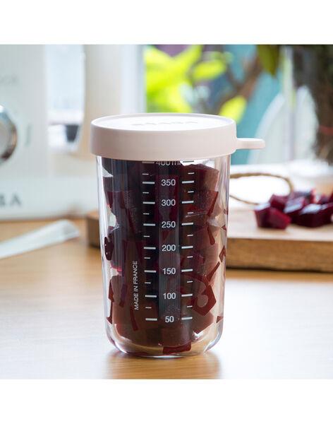 Pot de conservation en verre Béaba rose 400 mL dès 4 mois PORTION 400 ROS / 19PRR2006VAI030