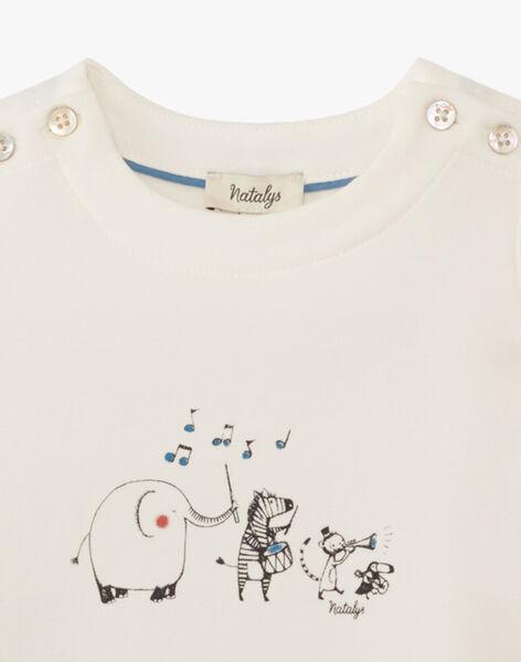 Tee shirt manche courte vanille avec motif animaux garçon  ARNOLD 20 / 20VV2311N0E114