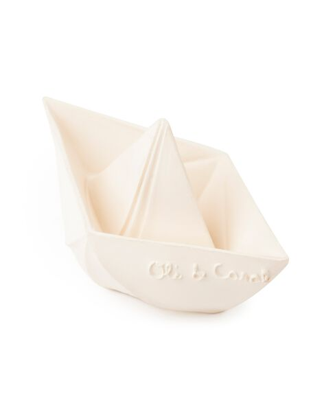 Jouet de bain bateau origami blanc JBA BATO BLANC / 21PJJO007JBA000