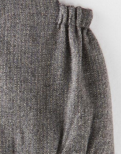 Barboteuse fille en lainage grise et touche de lurex  BAYA 20 / 20IV2251N27J908