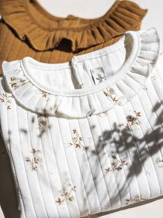 Body côtelé camel coton biologique bébé fille DELISIA 21 / 21IU1912N29804