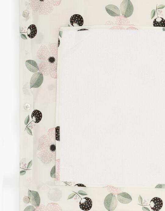 Housse de matelas à langer  imprimé fleurs fille   AVA-EL / PTXQ6211N75114
