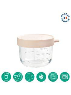 Pot de conservation en verre rose 150 mL PORTION 150 ROS / 19PRR2001VAI030
