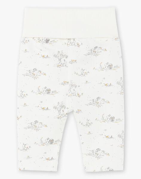 Pantalon vanille imprimé mixte TAFARI 19 / 19PV2425N03114