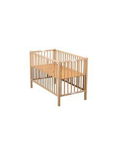 Lit bébé pliant 60x120 cm Roméo vernis naturel LIT60 PLIANT RO / 15PCMB010LBB999