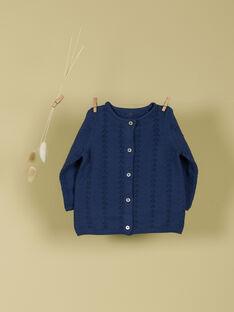 Cardigan bleu fille TISSIA 19 / 19VU1922N11208