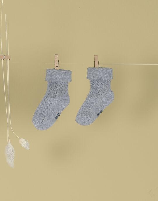 Chaussettes gris chiné mixtes TANAIGRIS 19 / 19PV7027N47943
