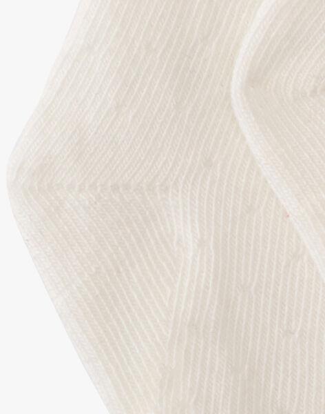 Chaussette fille vanille point fantaisie pois AMIRELLA-EL / PTXV6812N47114