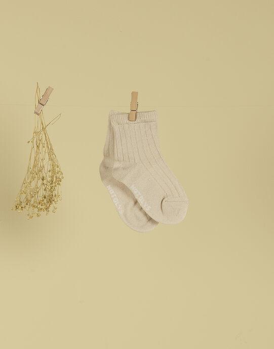 Chaussettes bébé garçon beige TITOUNO 19 / 19VU6123N47080