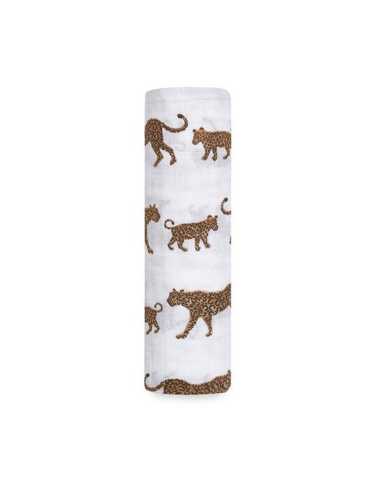 Maxi-lange léopards Hear Me Roar Aden Anais 120x120 cm dès la naissance MAXI LANGE HEAR / 19PSSO011AHY999
