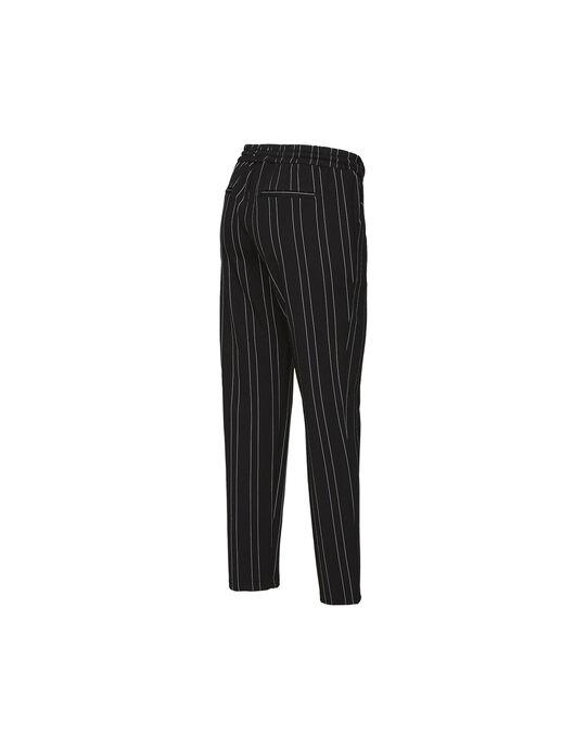 Pantalon de grossesse Mamalicious noir à rayures blanches MLHELLE PANTALO / 19IW2662N03090