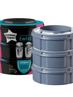 Trois Recharges poubelle à couches Sangenic Tec et Twist & Click PACK 3 TWIST / 19PSSO001AHY999