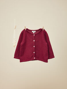 Cardigan tricot rose framboise fille   VEDILIZE 19 / 19IU1922N11308