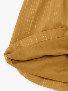 Robe bronze à rayures dorées Lurex® en coton fille CHARLOTTE 21 / 21VU1926N18900