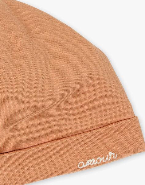 Bonnet naissance mixte caramel coton pima  DEMBI 21 / 21PV7012N63420
