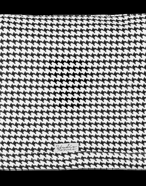 Echarpe Porte-bébé Moss pied-de-poule noire et blanche PORTE BEBE MOSS / 18PBDP013PBB999