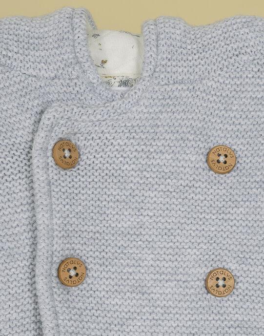 Veste de naissance à capuche gris chiné mixte TATAMI 19 / 19PV2421N17943