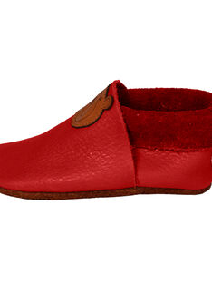 Chaussons en cuir rouge Ours M CHAU M OURS ROU / 15PSSO038AHY050