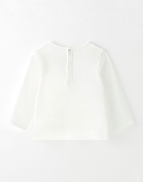 T-shirt blanc à motif oiseaux BETILOU 20 / 20IU1981N0F114