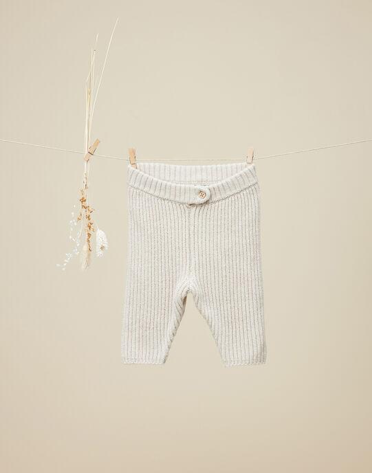 Pantalon en maille tricot naturel garçon  VILIERS 19 / 19IV2311N3A009