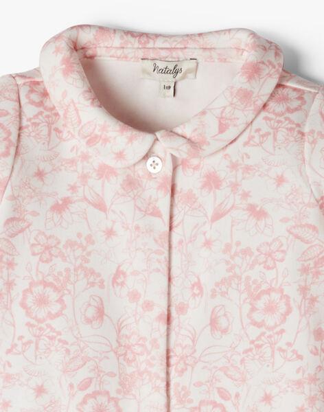 Grenouillère fille coton pima imprimé floral rose ALANUIT 20 / 20PV7113N31114