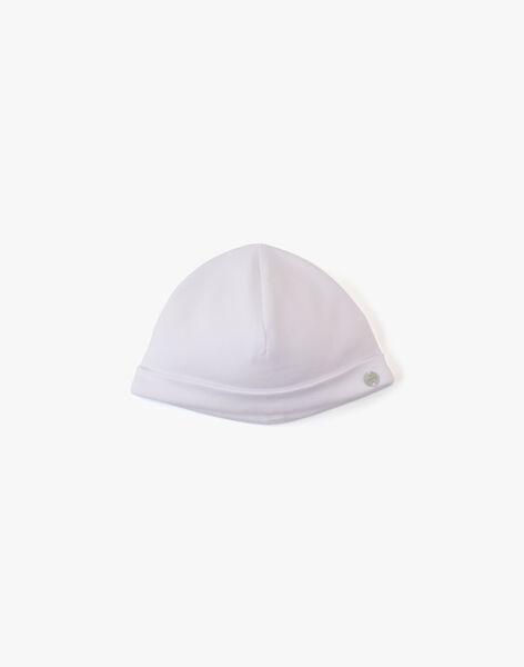 Bonnet naissance mixte en coton pima blanc AMIREL-EL / PTXV7011N63000