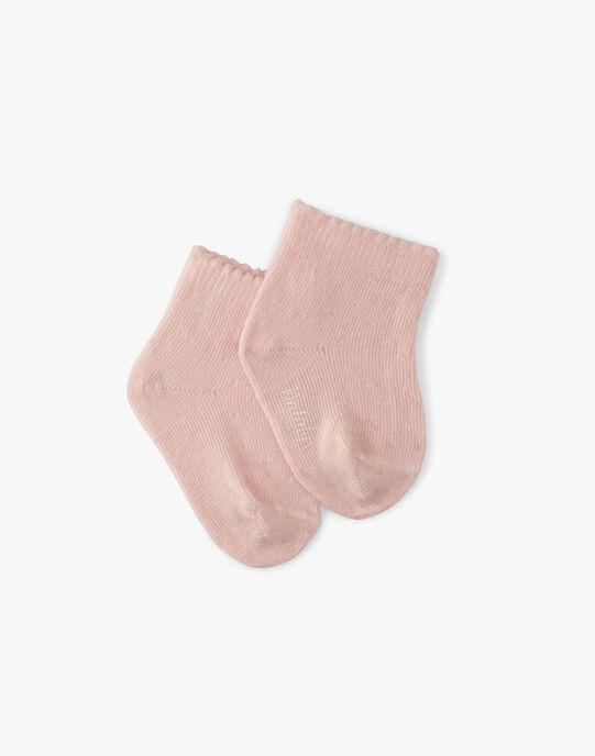 Chaussette fille rose dragée  AKISSI-EL / PTXV6811N47D310