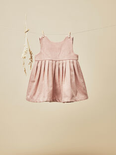 Robe chasuble rose pétale bébé fille  VINCIANE 19 / 19IU1913N18309