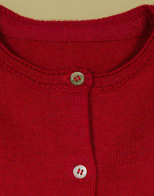 Cardigan rouge coquelicot fille TOMAYA 19 / 19VU1911N11F505
