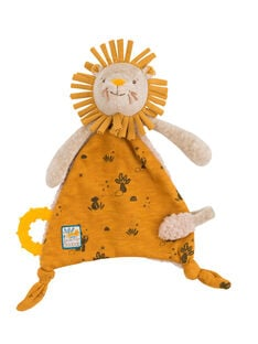 Doudou attache tetine lion moulin roty DOUDOU LION / 20PJPE001PPE999