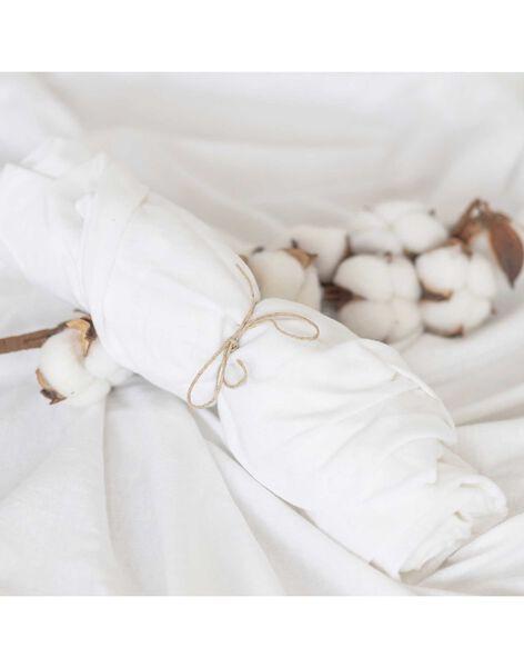 Drap housse jersey bio blanc 40x80 DRA HO BLA 4080 / 21PCTE002DRA000
