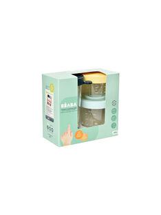 Coffret 3 pots de conservation en verre COF JAUNE BLEU / 19PRR2009VAI999