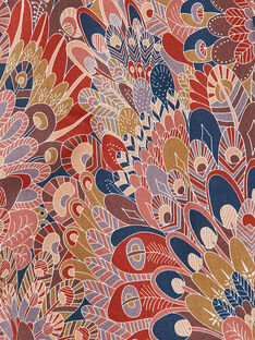Combinaison fille terracotta imprimé Liberty  CALISTA 21 / 21VU1922N26E415