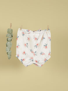 Short vanille et fleurs fille TOSIALIS 19 / 19VU1911N02114