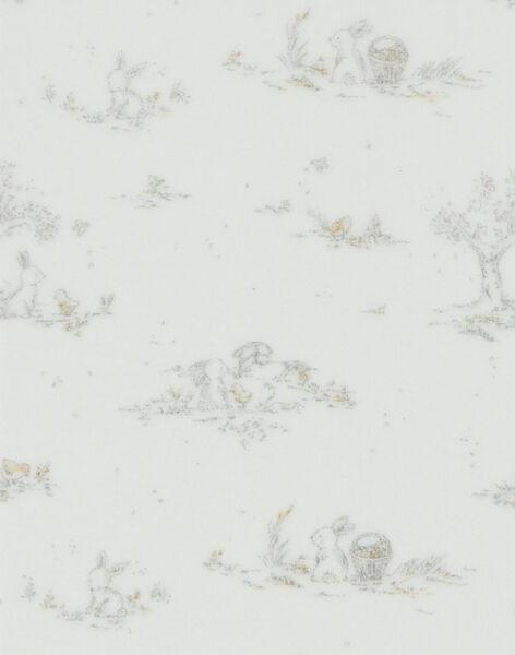 Grenouillère mixte vanille en velours imprimé lapins  DIBONNIE 21 / 21PV7311N31114