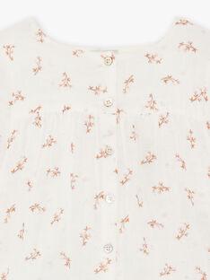 Blouse imprimé fleurs gaze de coton biologique DESTINY 468 21 / 21I129112N09114