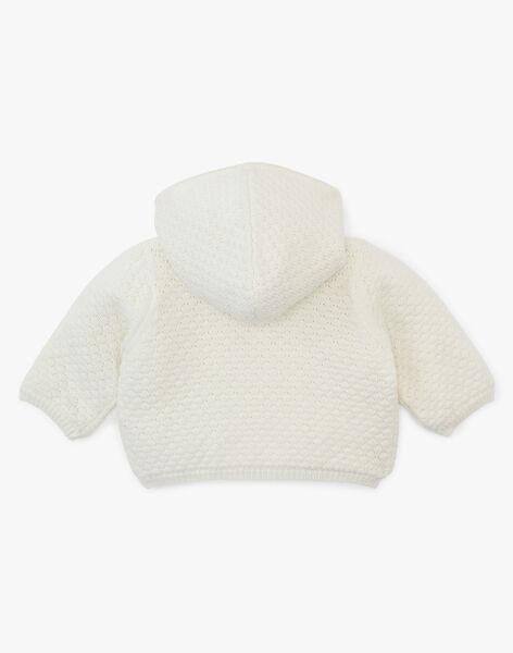 Veste mixte vanille en coton laine  ALCESTE 20 / 20PV2411N17114