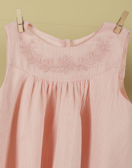 Ensemble robe et bloomer blush fille TULLE 19 / 19VV2271N18D300